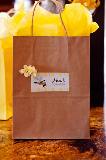 Life Begins with the Birds and the Bees Baby Shower via babyshowerideas4u about to hatch bag