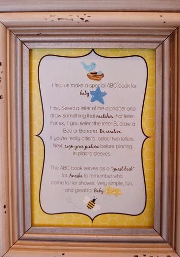 Life Begins with the Birds and the Bees Baby Shower via babyshowerideas4u adorable guestbook