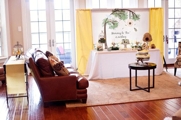 Life Begins with the Birds and the Bees Baby Shower via babyshowerideas4u baby shower room