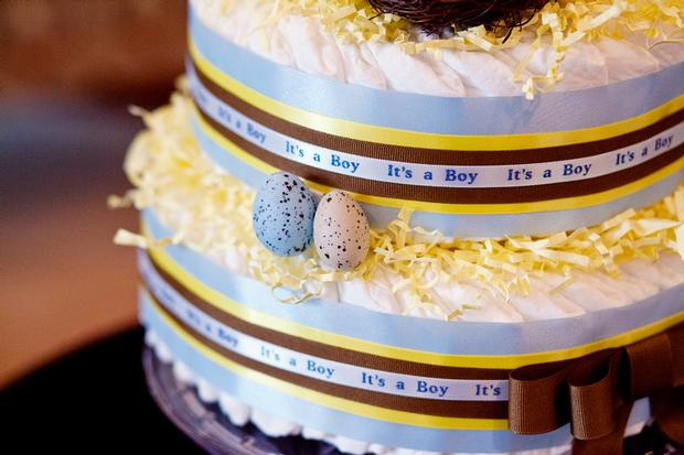 Life Begins with the Birds and the Bees Baby Shower via babyshowerideas4u bird eggs diaper cake