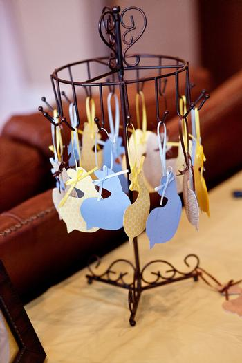 Life Begins with the Birds and the Bees Baby Shower via babyshowerideas4u bird paper decoration