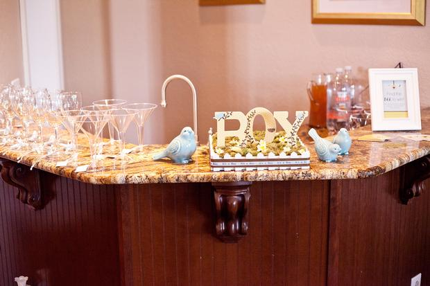 Life Begins with the Birds and the Bees Baby Shower via babyshowerideas4u drink bar