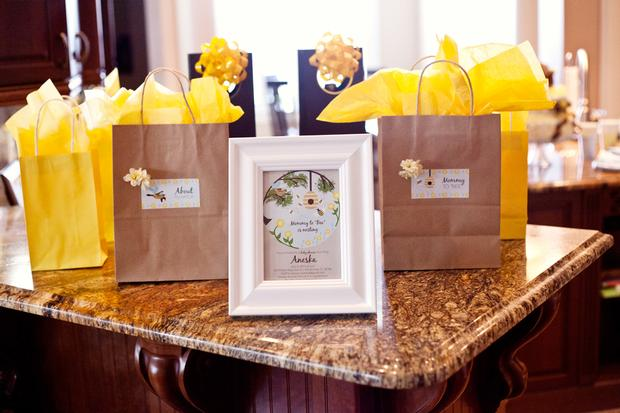 Life Begins with the Birds and the Bees Baby Shower via babyshowerideas4u favor bags