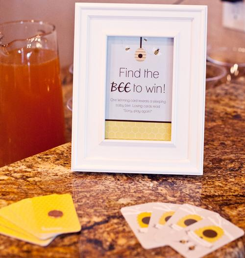 Life Begins with the Birds and the Bees Baby Shower via babyshowerideas4u find bee game