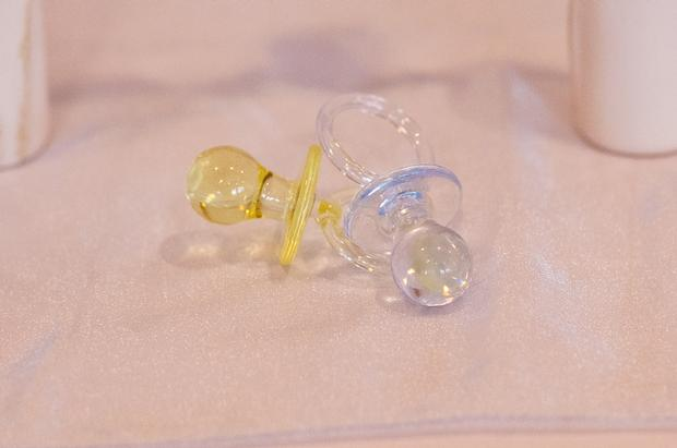 Life Begins with the Birds and the Bees Baby Shower via babyshowerideas4u pacifier