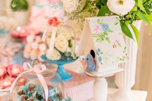 Pink & Blue Little Bird Baby Shower Ideas
