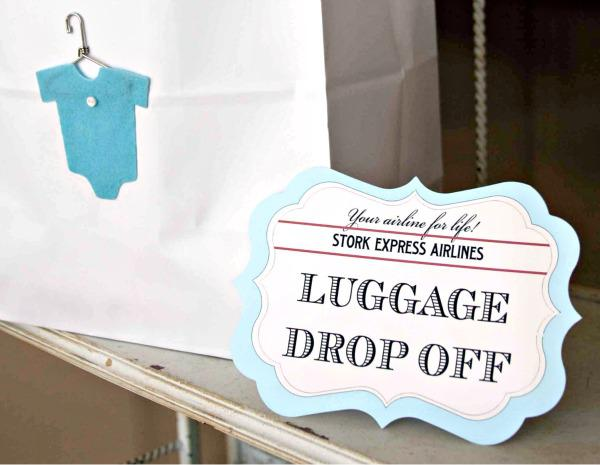 luggage drop off station