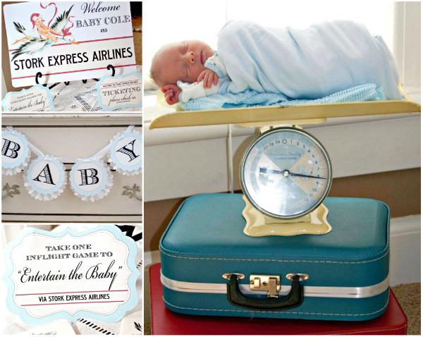 baby boy early arrival baby shower scale