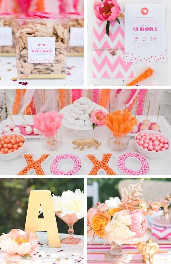 Luxe Circus Sip and See Baby Shower tablescape