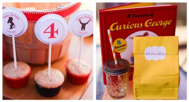 Monkey See Monkey Do Party ideas via baby shower ideas shops banana bread curious george book