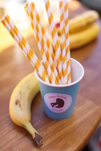Monkey See Monkey Do Party ideas via baby shower ideas shops banana yellow striped straws