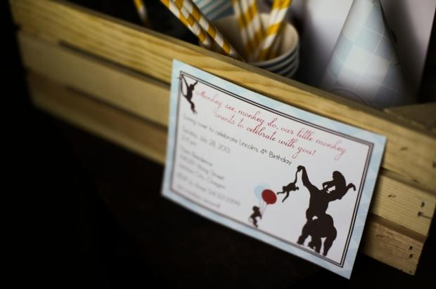 Monkey See Monkey Do Party ideas via baby shower ideas shops invitation card