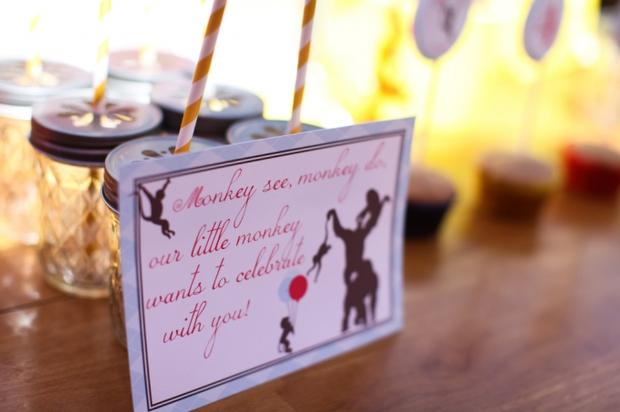 Monkey See Monkey Do Party ideas via baby shower ideas shops label