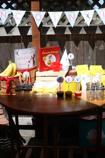 Monkey See Monkey Do Party ideas via baby shower ideas shops party table