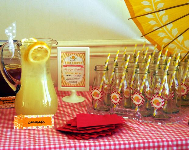 Pink Lemonade Baby Shower decorations and inspirations via babyshowerideas4u.com lemonade bar