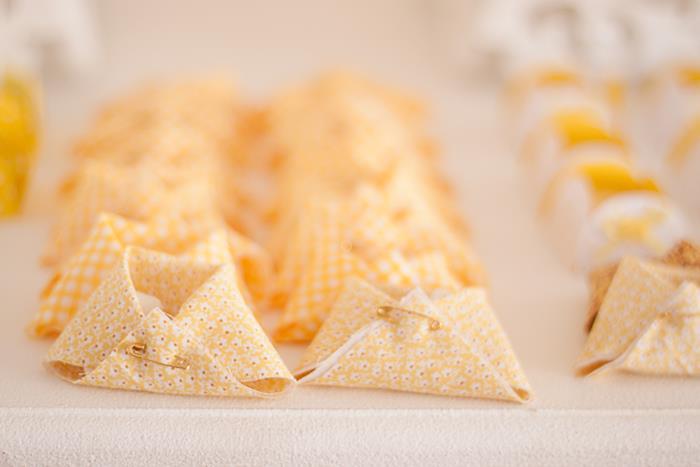 Honey Bee Baby Shower Ideas napkin diapers