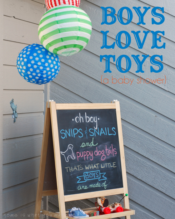 Snips and Snails and Puppy dog Tails Baby Shower ideas
