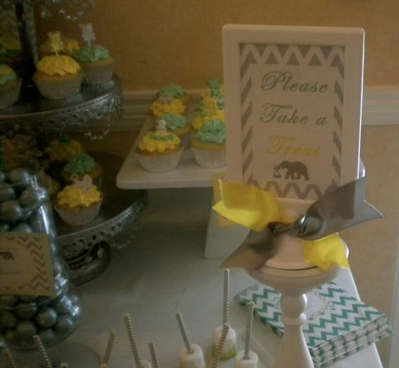 bundle of joy baby shower theme via babyshowerideas4u.com grey and yellow colors -