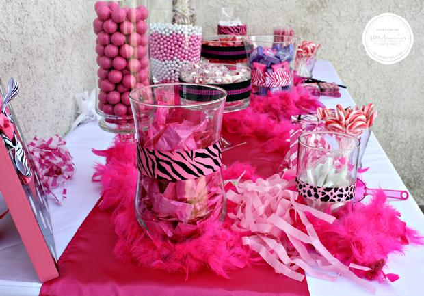 candy buffet baby shower party ideas sweet spice for girls via babyshowerideas4u 15