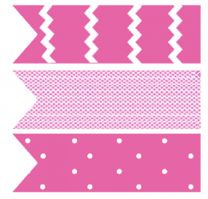 free pink cupcake flag toppers