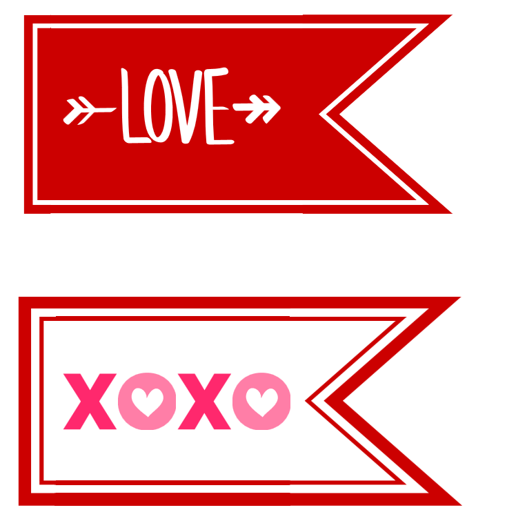 free printable valentines day flags
