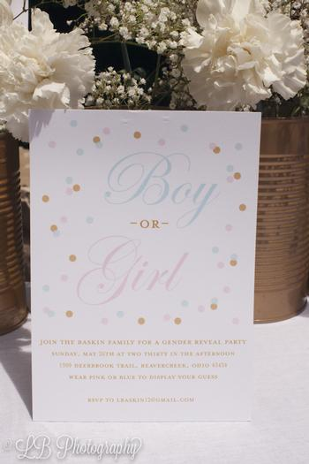 Pink and Blue Gender Reveal Baby Shower Party via babyshowerideas4u.com boy or girl