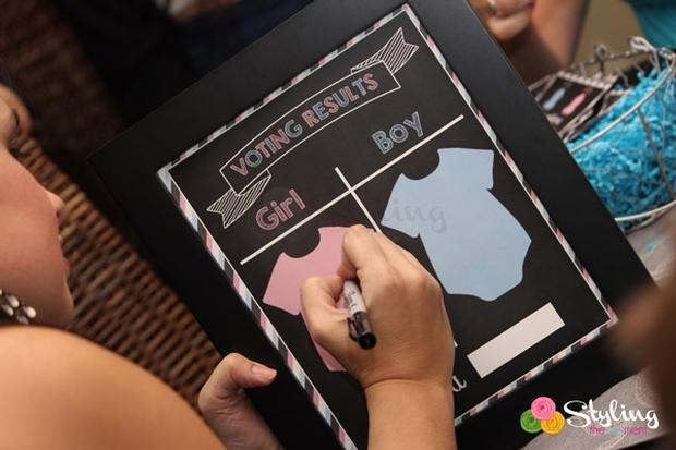 gender reveal party baby shower a boy or a girl via babyshowerideas4u pink blue voting
