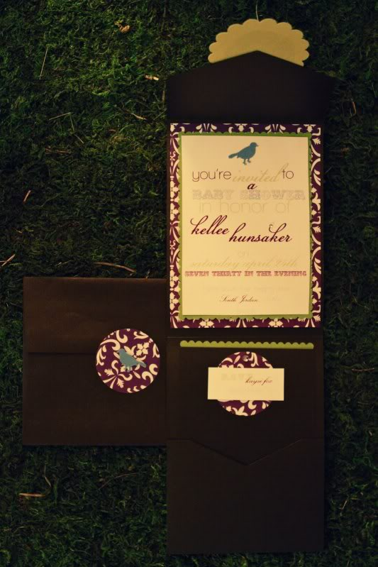 birdie themed baby shower invitations