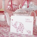 Pink Elephant Themed Baby Shower
