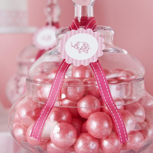 Pink Elephant Themed Baby Shower Theme Ideas for Girls, Boys, Gender Neutral, Gender Reveal Shimmering Pink Gumballs