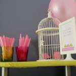 Pink and Green Owl Baby Shower