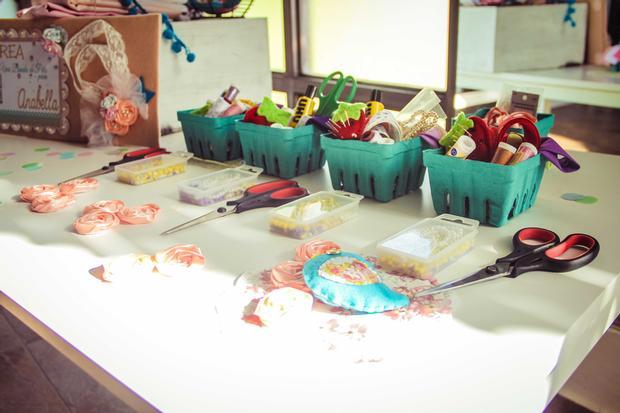 shabby chic bird baby shower ideas via babyshowerideas4u arts and craft tools