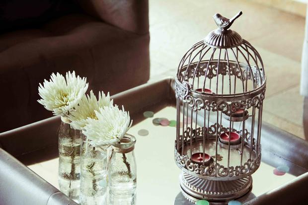 shabby chic birds baby shower ideas via babyshowerideas4u cage