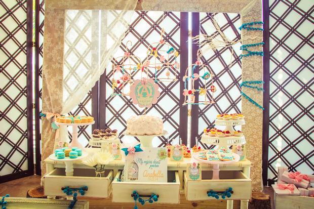 shabby chic birds baby shower ideas via babyshowerideas4u dessert bar