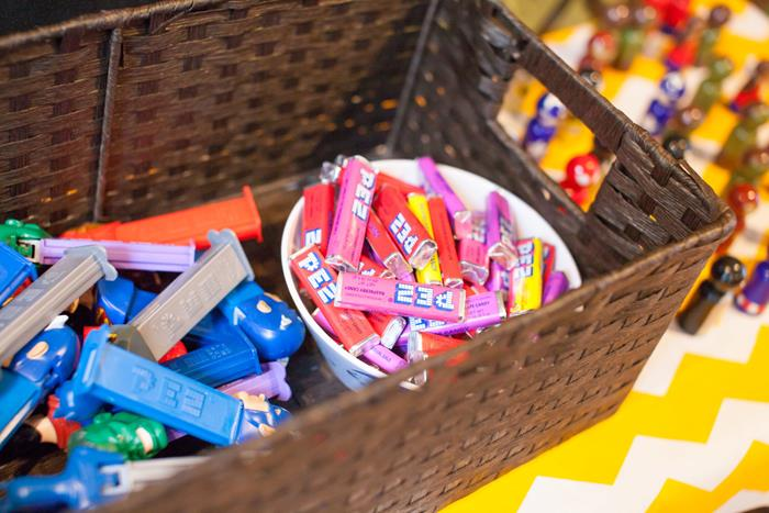 colorful pez candy favors