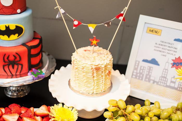 wonder woman star cake