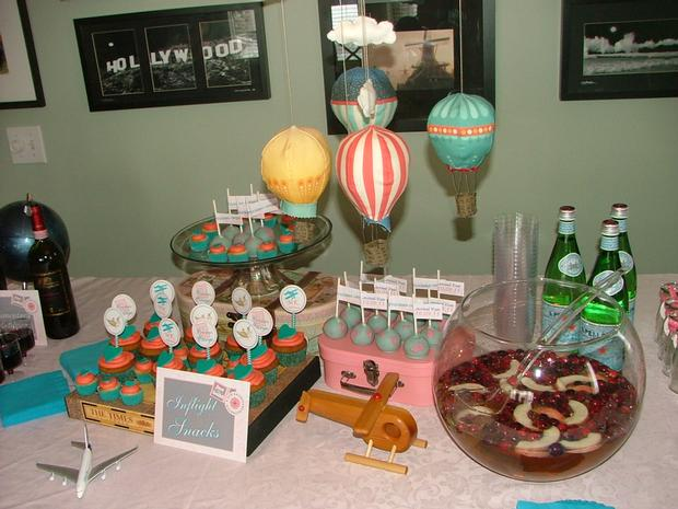 vintage travel themed baby shower - flight and cargo via babyshowerideas4u 1