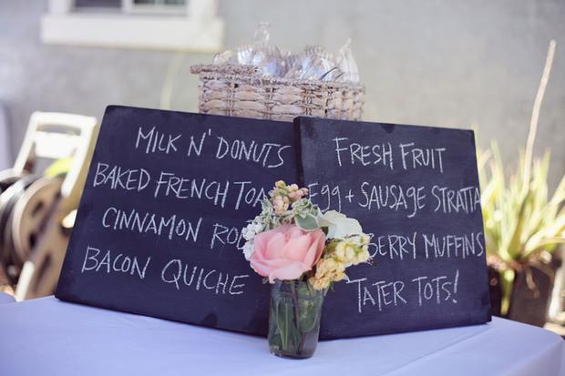 vintage chalkboard food sign
