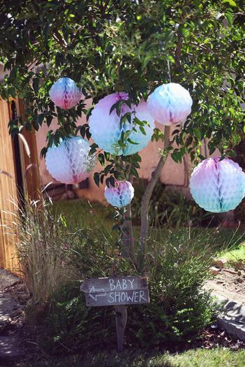watercolor ombre paper balls