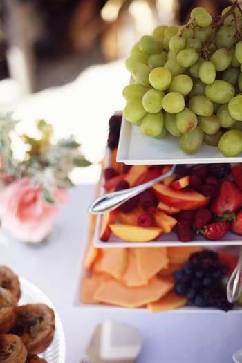 tired fruit platter