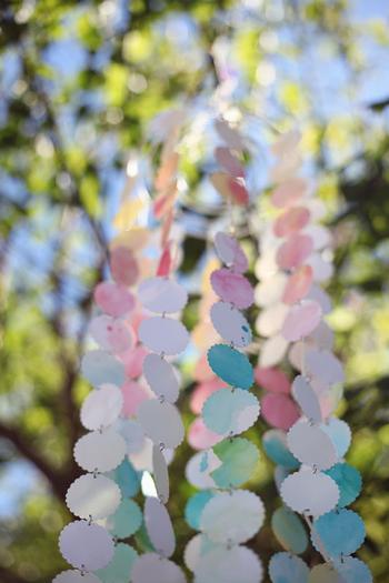 vintage watercolor baby shower via babyshowerideas4u.com watercolor DIY chandelier 2
