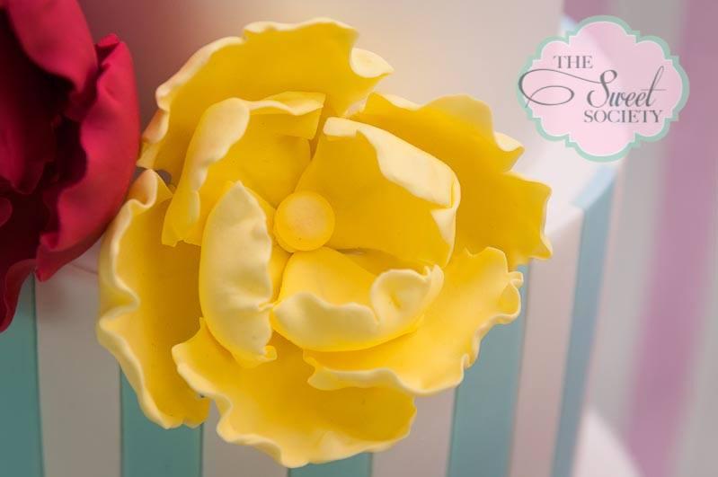 whimsical wonderland garden party via babyshowerideas4u yellow flower on baby shower cake
