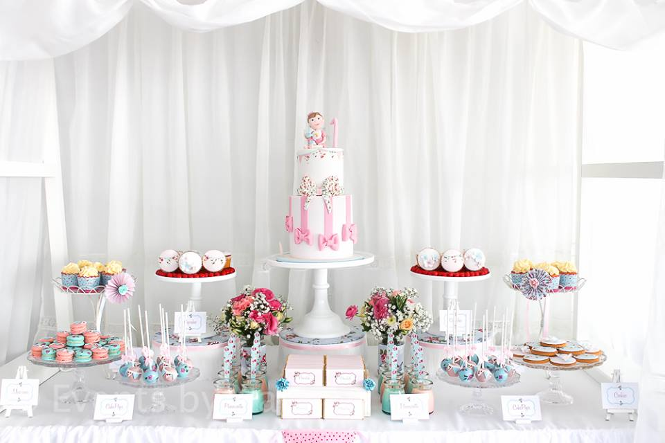 stunning cake with white curtain backdrop