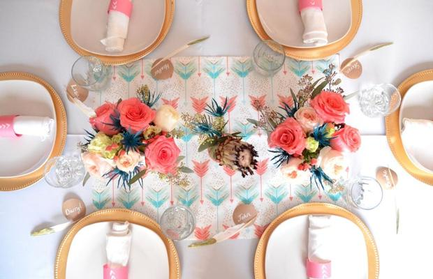 Bohemian, Bows & Arrows Baptism Celebration, great baby shower ideas 2