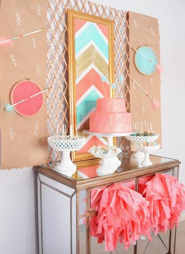 Bohemian, Bows & Arrows Baptism Celebration, great baby shower ideas via babyshowerideas4u 3