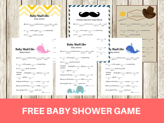 FREE Printable Mad Libs Baby Shower Game