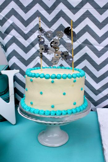 Modern Chevron Elephant Baby Shower cake