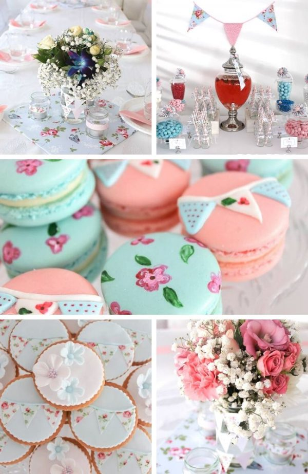 Shabby Chic Baby Shower Ideas Tablescape