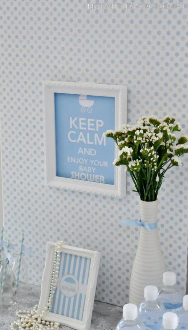 Showered from above Shower Baby Shower theme by Justine via babyshowerideas4u.com 1