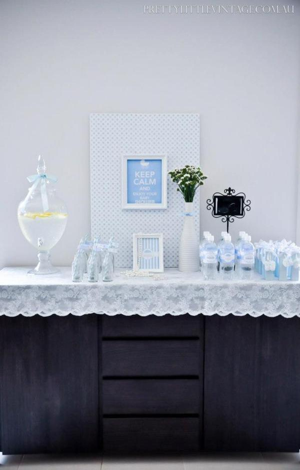 Showered from above Shower Baby Shower theme by Justine via babyshowerideas4u.com 7